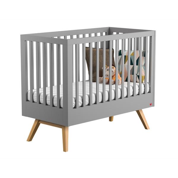 Vox - Lit bébé 60x120 Nautis - Gris
