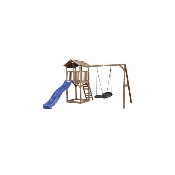 Axi - AXI Beach Tower avec Nid Roxy Balancoire Marron Bleu Toboggan