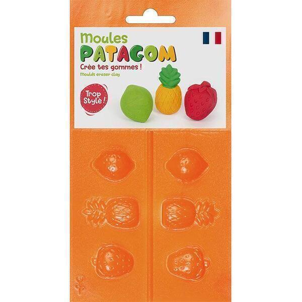 Graine Créative - Moules pour gomme à modeler Patagom - Fruits