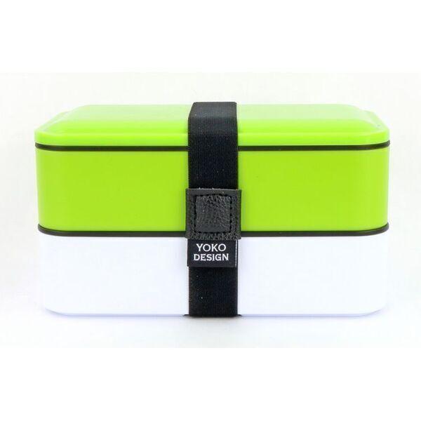 Yoko Design - LUNCH BOX 2 ETAGES COLORIS VERT 1200 ml