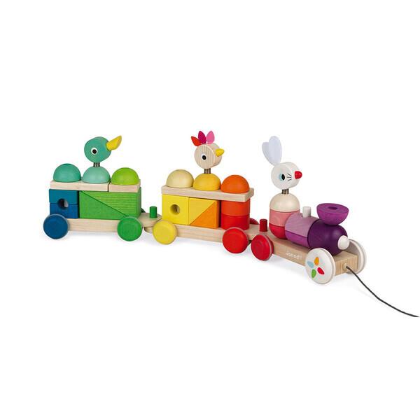 Janod - Train multicolor zigolos