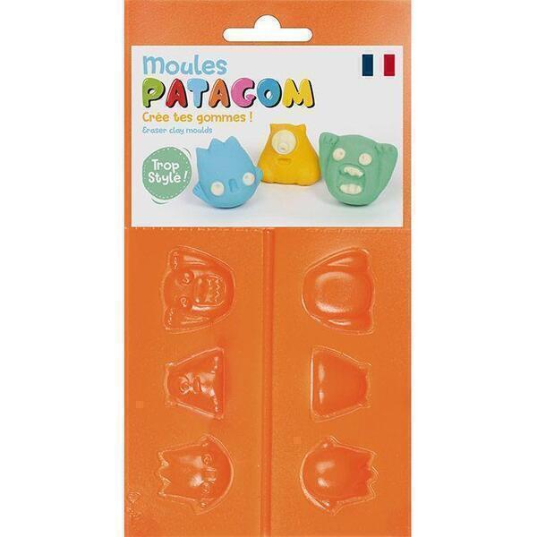 Graine Créative - Moules pour gomme à modeler Patagom - Monstres