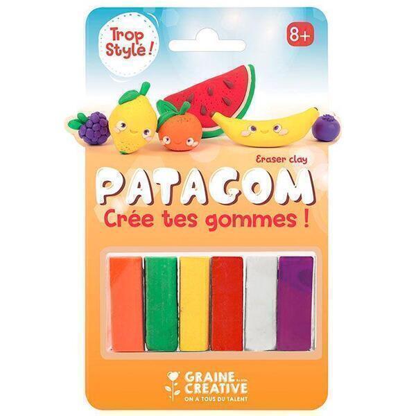 Graine Créative - Gomme à modeler Patagom 6 couleurs - Fruits
