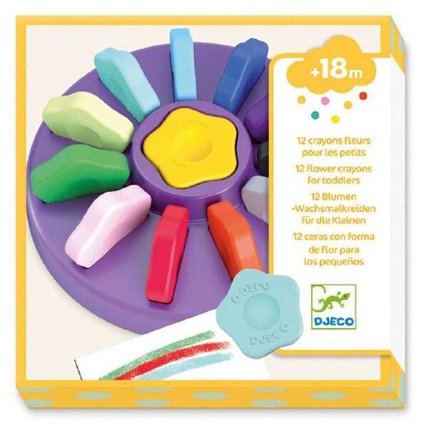Djeco - 12 crayons fleurs pour les petits