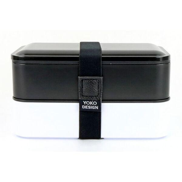 Yoko Design - LUNCH BOX 2 ETAGES COLORIS NOIR 1200 ml