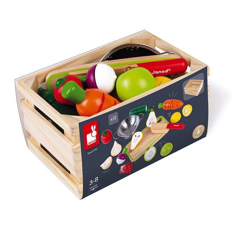 Janod - Maxi set Fruits et legumes a decouper