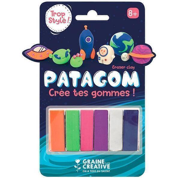 Graine Créative - Gomme à modeler Patagom 6 couleurs - Cosmos