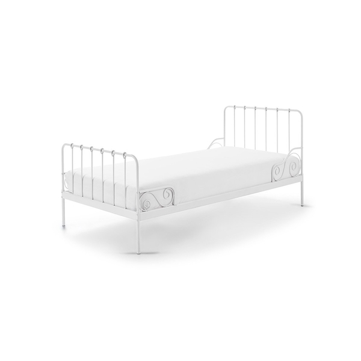 Vipack - ALICE Lit en metal  90x200cm Blanc