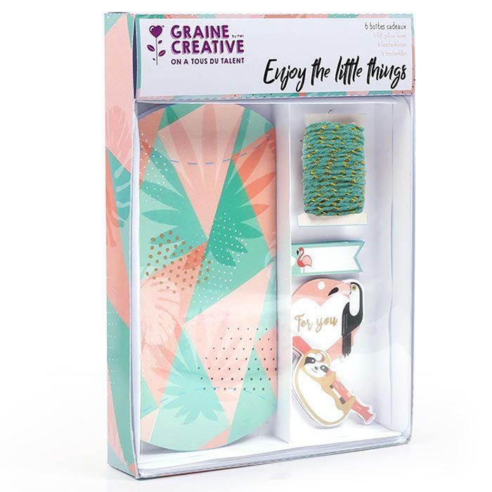 Graine Créative - 6 boîtes cadeaux à faire soi-même - Tropical