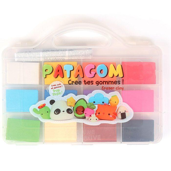Graine Créative - Coffret gomme à modeler Patagom 12 couleurs