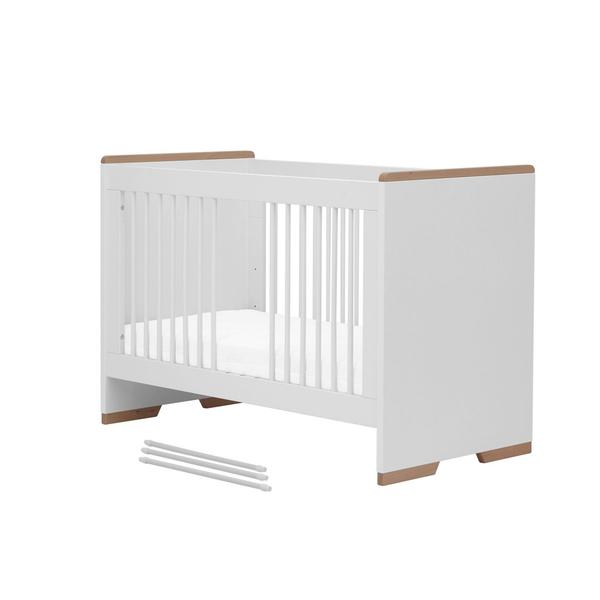 Pinio - Lit bébé 60x120 Snap - Blanc et bois
