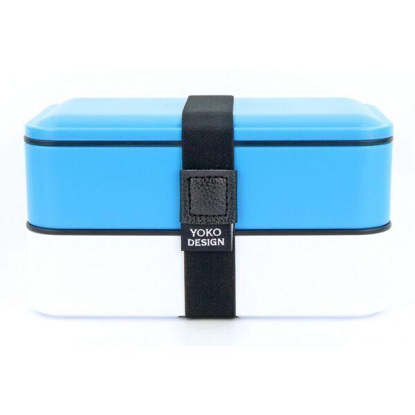 Yoko Design - LUNCH BOX 2 ETAGES COLORIS BLEU 1200 ml