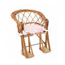 Egmont Toys - Chaise de velo en osier avec coussin rose