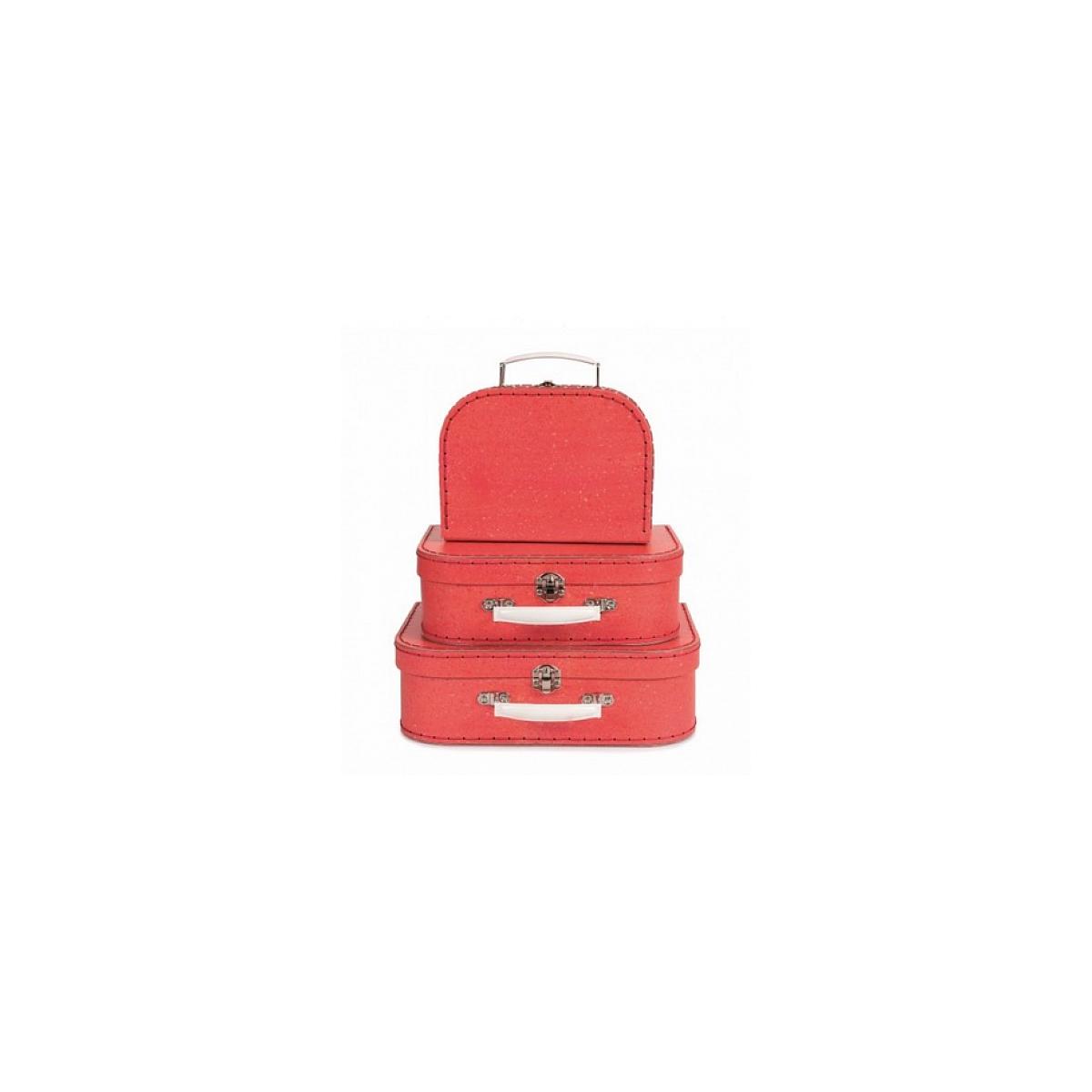 Egmont Toys - Set de 3 valises rouges
