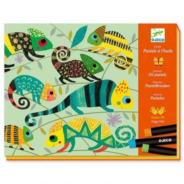Djeco - Atelier Pastels Jungle Coloree