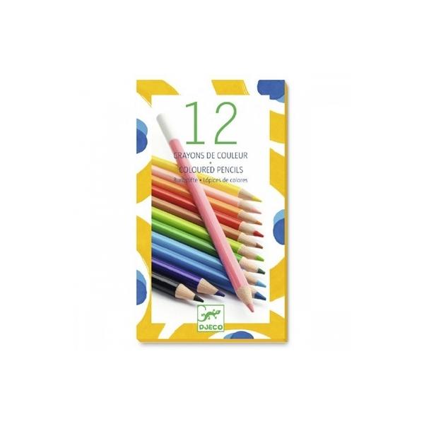 Djeco - 12 crayons de couleurs