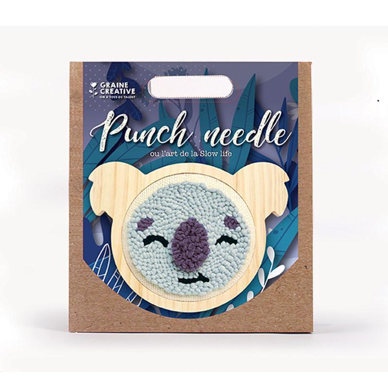 Graine Créative - Coffret punch needle - Koala Ø 15 cm