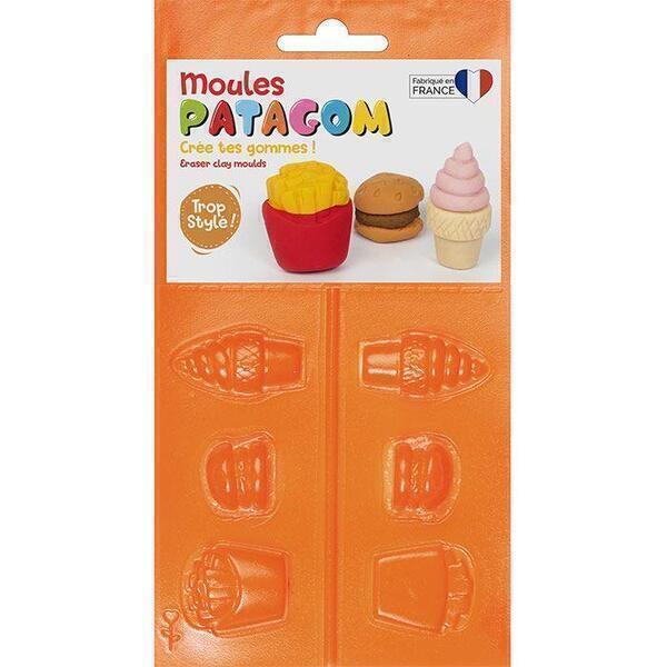 Graine Créative - Moules pour gomme à modeler Patagom - Junk food