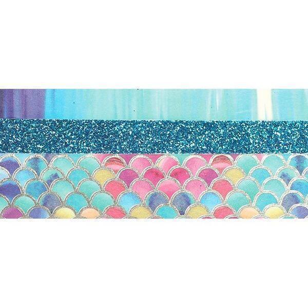 Graine Créative - 3 glitter tapes - 2 x 5 m et 1 x 2 m - Sirène