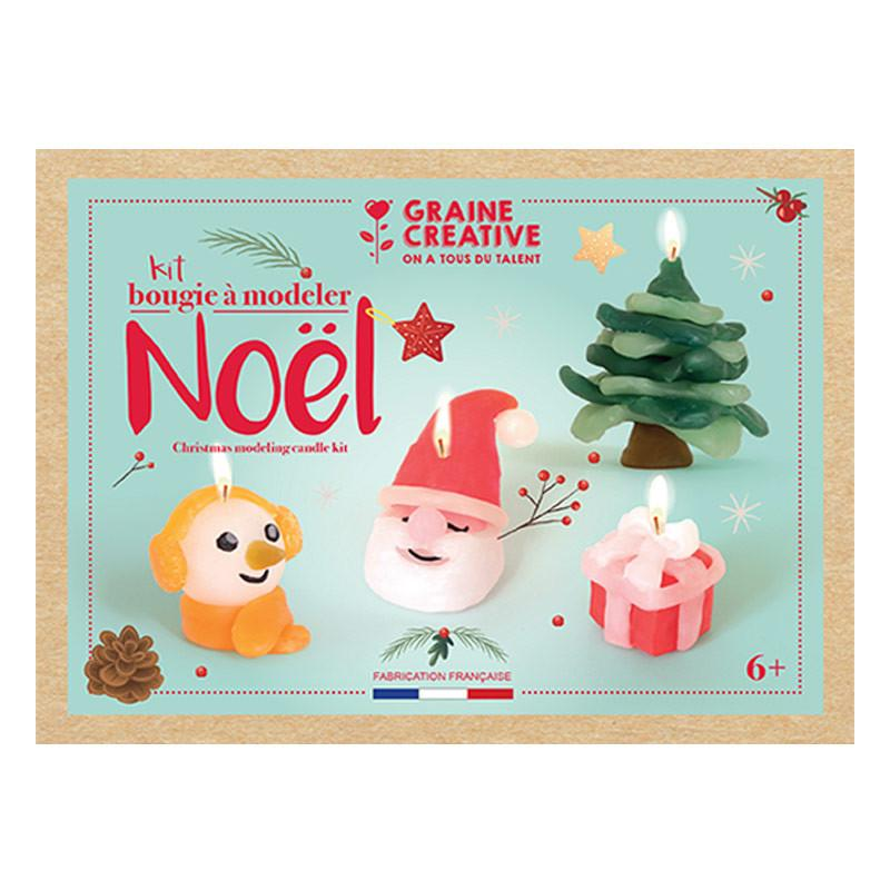 Graine Créative - Coffret pour enfants - Bougies à modeler - Noël