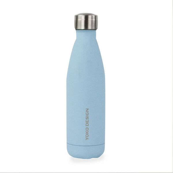 Yoko Design - BOUTEILLE ISOTHERME 500 ml PASTEL BLUE SKY MAT