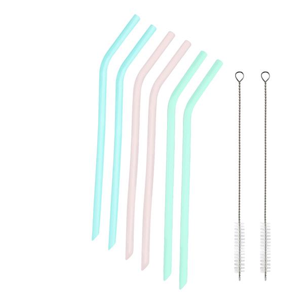 Yoko Design - 6 pailles en silicone