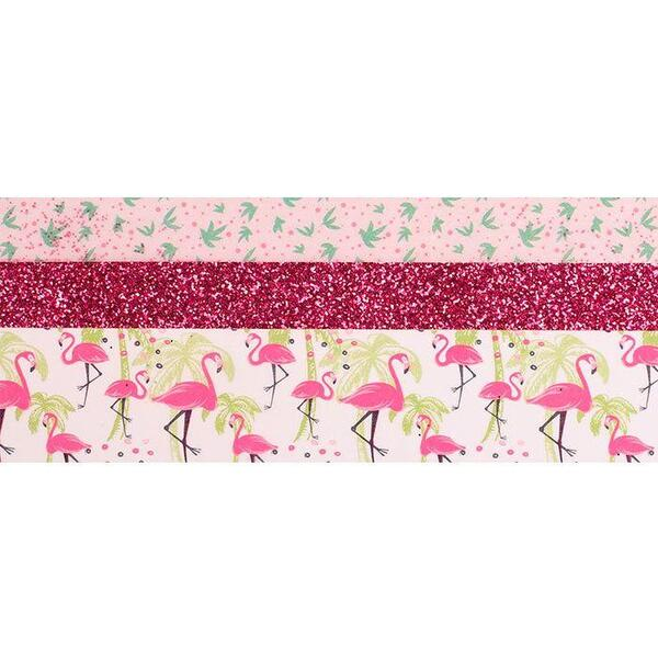 Graine Creative - 3 Tapes glitter flamant rose