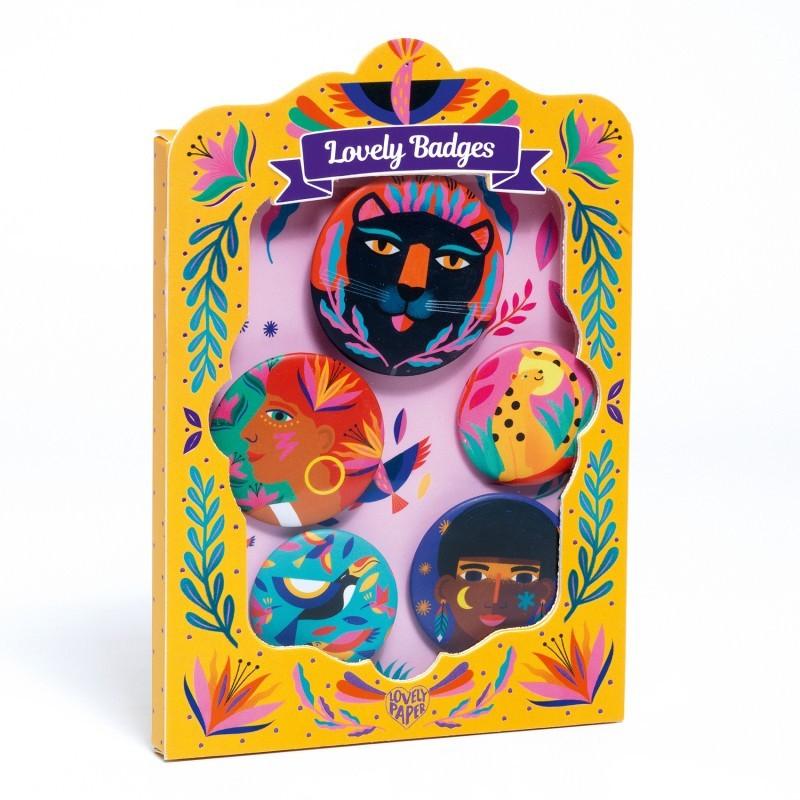 Djeco - Lovely badge Wild