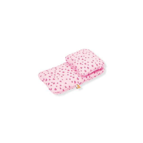 Pinolino - Literie pour poussette de poupées Herzchen rose 2 pièces