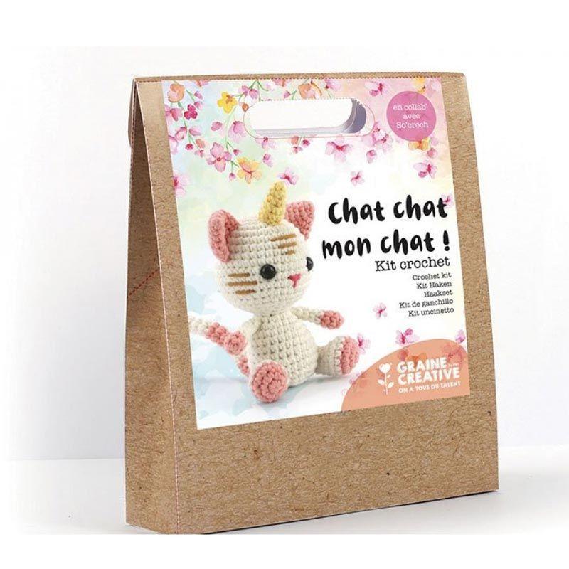 Graine Créative - Ma peluche en crochet - Mon petit Chat - Licorne