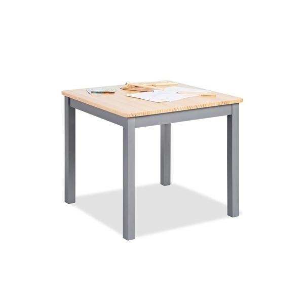 Pinolino - Table enfant Fenna gris naturel 57x57cm