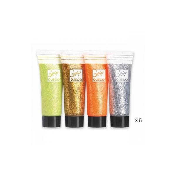Djeco - 8 tubes gel pailletes