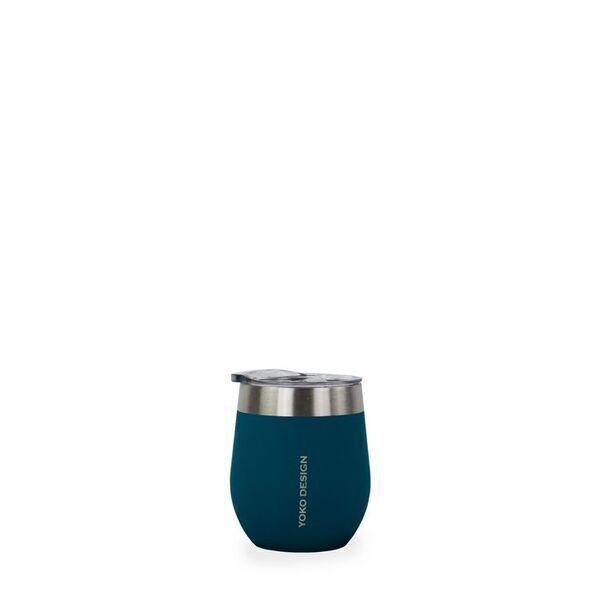 Yoko Design - MUGS ISOTHERME avec couvercles 250 ml BLEU CANARD