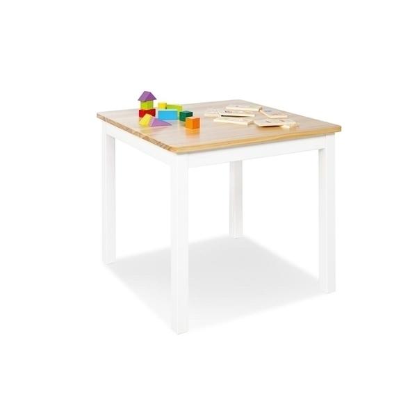 Pinolino - Table enfant Fenna blanc naturel 57x57cm