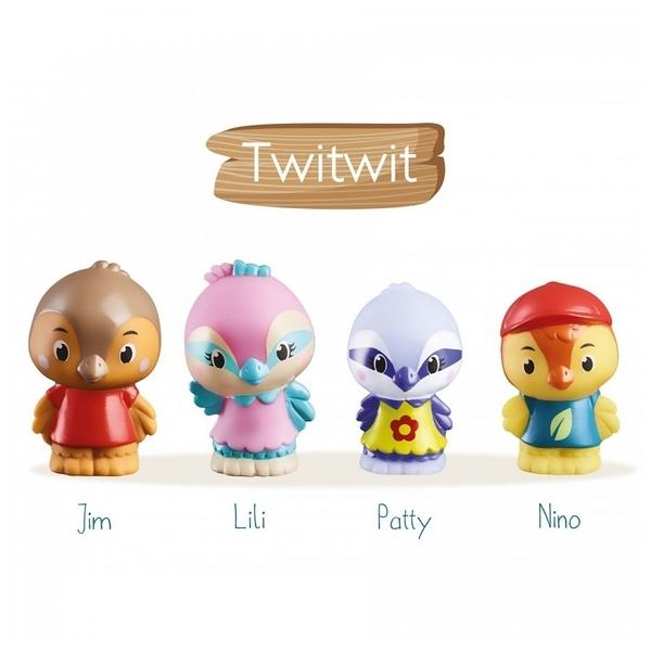Vulli - Klorofil Lot de 4 personnages « Twitwit »