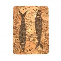 """OAK Forest - Dessous de plat en liege naturel artisanal """"Sardine"""" - Vegan"""