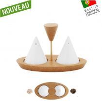OAK Forest - Salière & Poivrière liège & porcelaine - Set Sel & Poivre