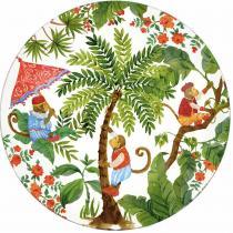 Les jardins de la comtesse - Grande assiette en verre trempé blanc 29,5 cm - Bali