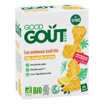 Good Gout - Biscuits les animaux tout bio saveur citron 80g - Dès 10 mois
