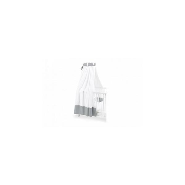 Pinolino - Ciel en percale pour lits de bébé blanc/gris