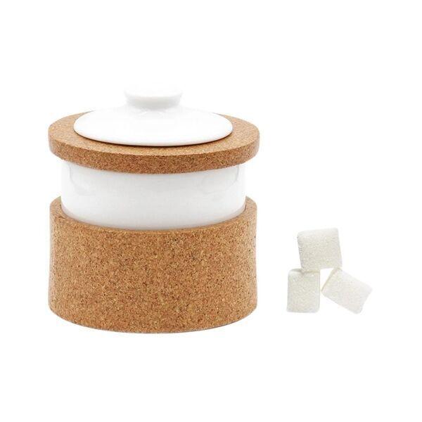 OAK Forest - Sucrier en liège & porcelaine Vista Alegre - Boite à sucre vegan