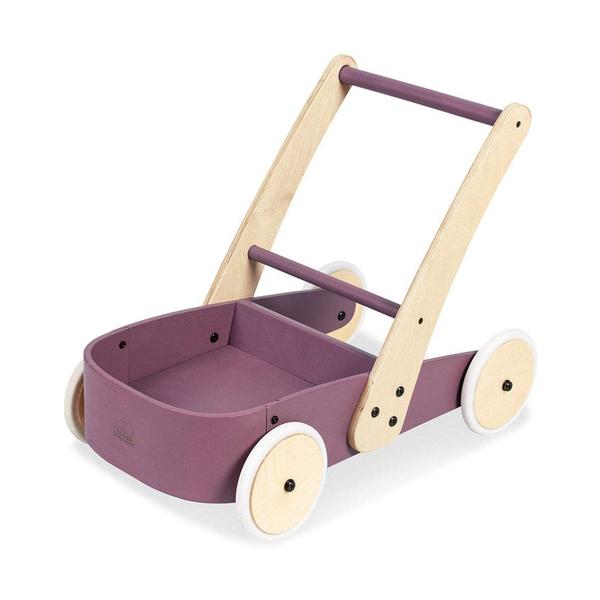 Pinolino - FIETE Chariot de marche bois massif  hêtre laqué violet