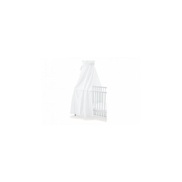 Pinolino - Ciel en percale pour lits de bébé blanc