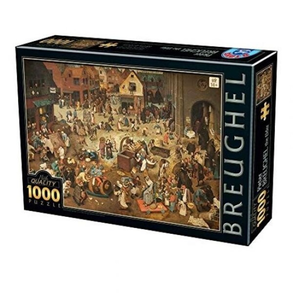DTOYS - Puzzle Brueghel Le Vieux The Fight Between Carnival and Lent