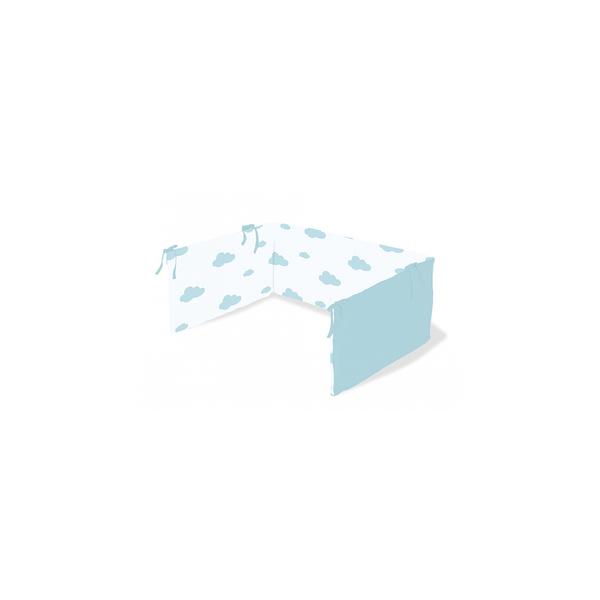 Pinolino - Tour de lit en percale pour lit de bébé Wölkchen bleu clair