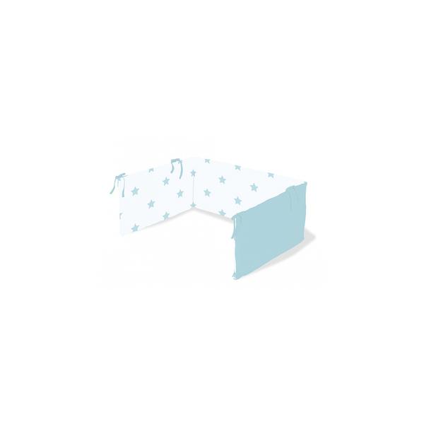 Pinolino - Tour de lit en percale pour lit de bébé Sternchen bleu clair