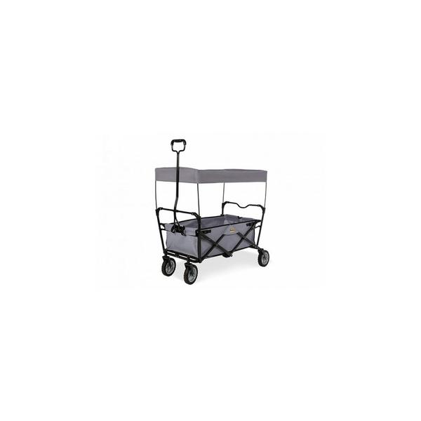 Pinolino - PACO Chariot pliable châssis métal laqué noir et tissu gris