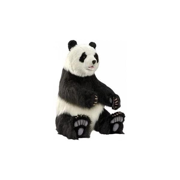 Hansa - Hansa Peluche Geante Panda Assis 105 cm H 52cm l et 92 cm L