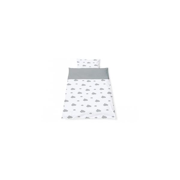 Pinolino - Linge de lit en percale pour lits de bébé Wölkchen gris 2