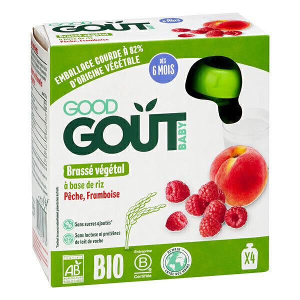 Good Gout - Brassé à base de riz pêche framboise 4x85g - Dès 6 mois